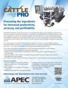 Download the Cattle Pro spec sheet from APEC USA